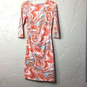 J McLaughlin Catalina Ruche Multi Dress